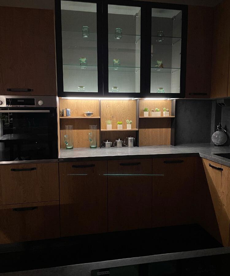 Φωτισμός σε έπιπλο κουζίνας Rigas Cucine